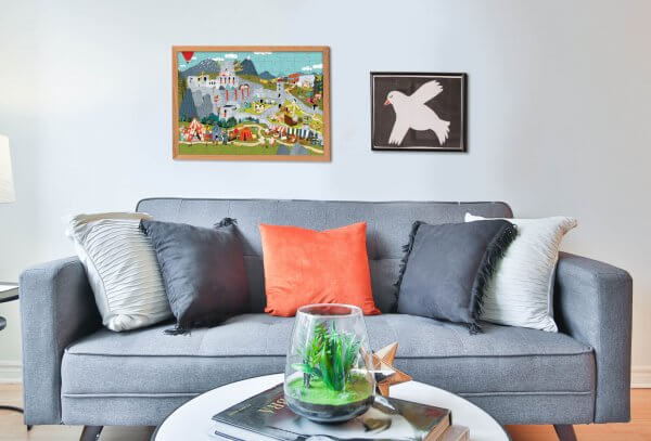 Mária Nerádová puzzle Pucle bytová dekorácia na stenu