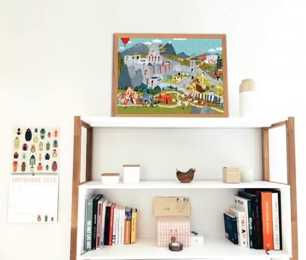 Mária Nerádová Poďme objavovať Slovensko Pucle puzzle ako bytová dekorácia