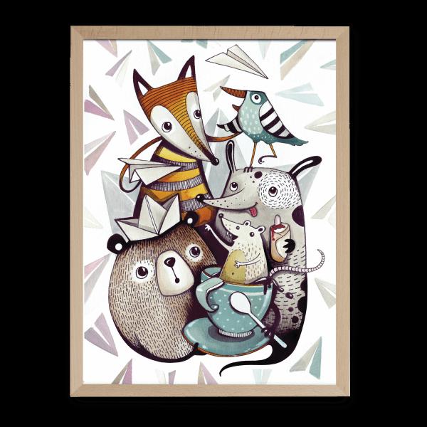 Dominika Šikulincová ilustrované puzzle Pucle