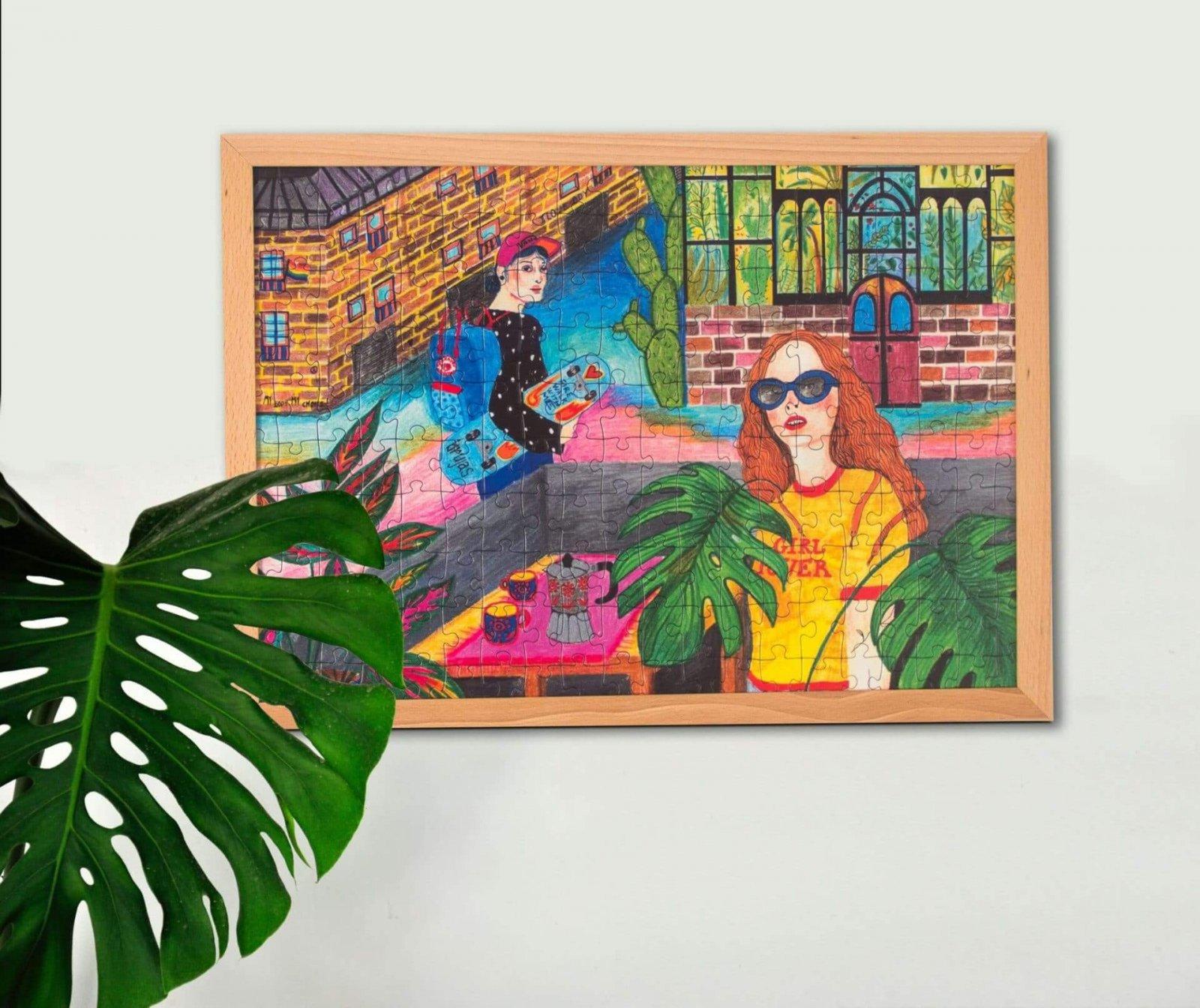 Ilustrované puzzle od slovenskej ilustrátorky Martu Hlavajovej Girl Power Pucle