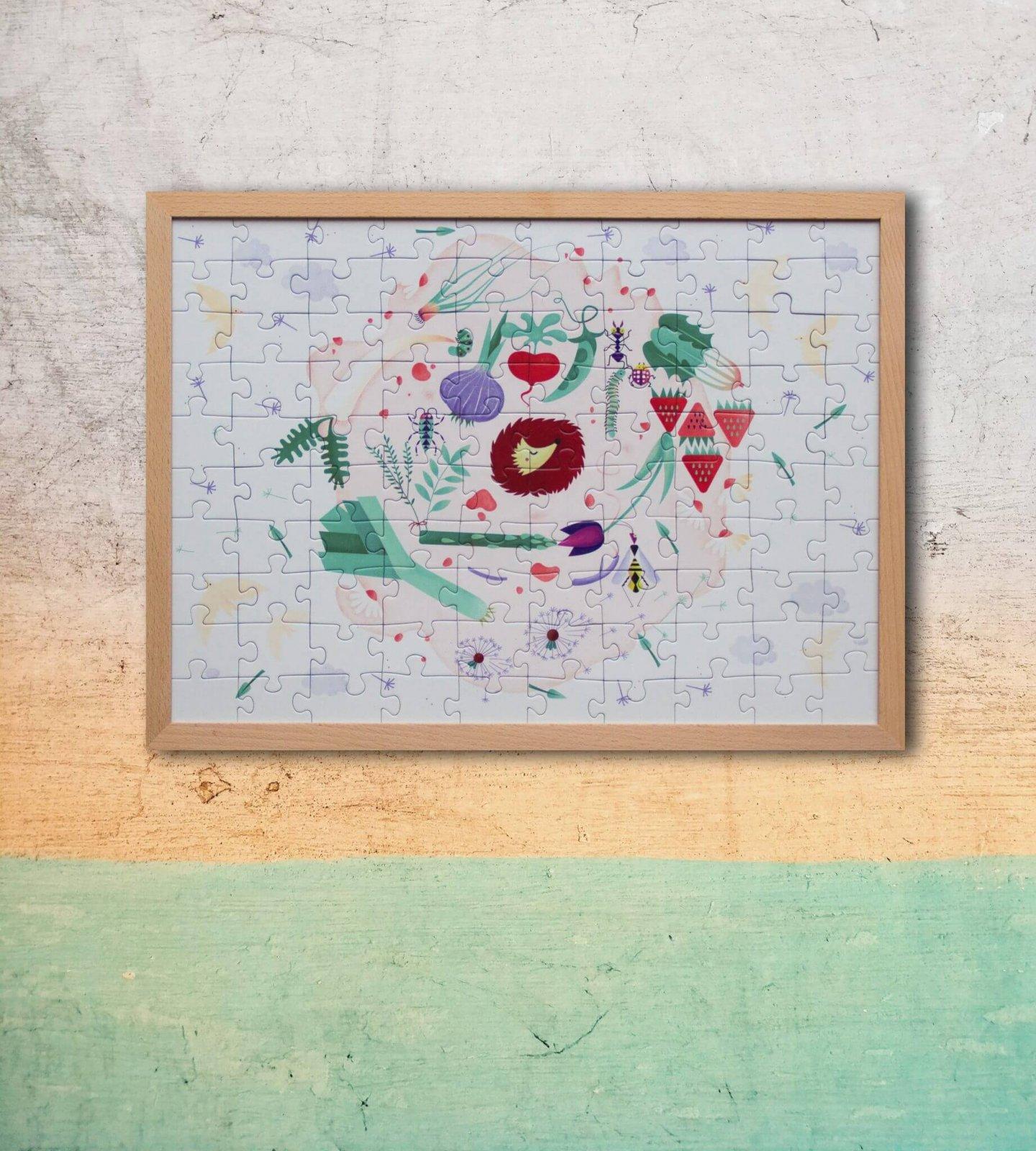 Ilustrované puzzle v ráme od Zuzany Bartovej