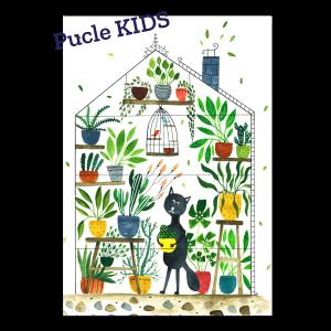 Ilustracia od Kristiny Kemenikovej Kocur botanikom Pucle KIDS 24 a 48 dielikove puzzle