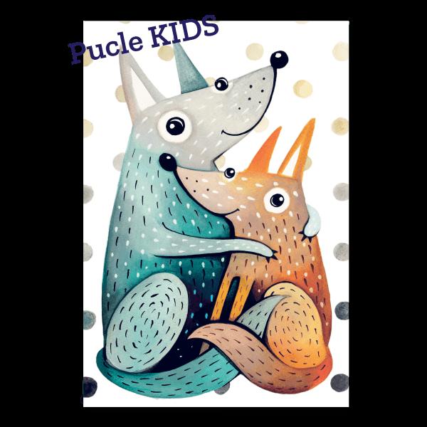 Ilustracia od Dominika Sikulincovej Kozuskovia Pucle KIDS 24 a 48 dielikove puzzle