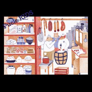 Ilustracia od Simony Cechovej Spajza Pucle KIDS 24 a 48 dielikove puzzle