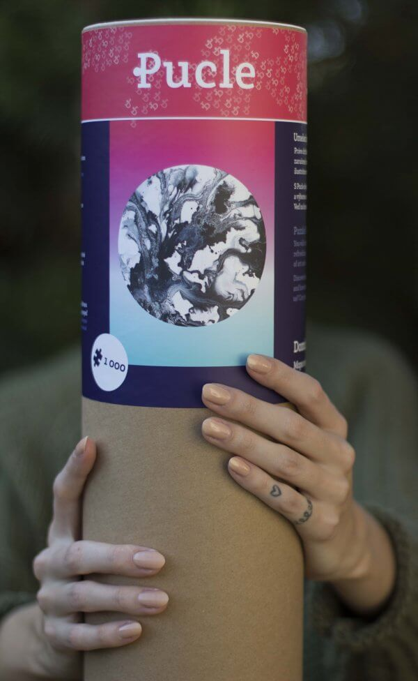 Ilustrovane puzzle od Dominiky Zakovej Mapa snov v tubuse s drevenym ramom netreba lepit