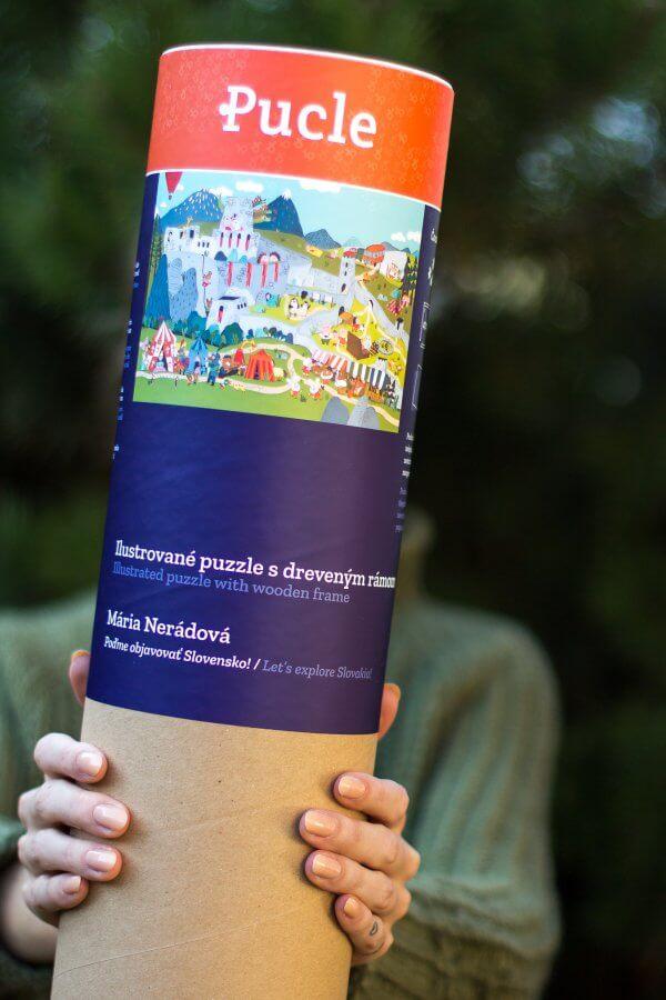 Mária Nerádová Pucle poďme objavovt Slovensko Pucle ilustrované slovenskými ilustrátormi s rámom