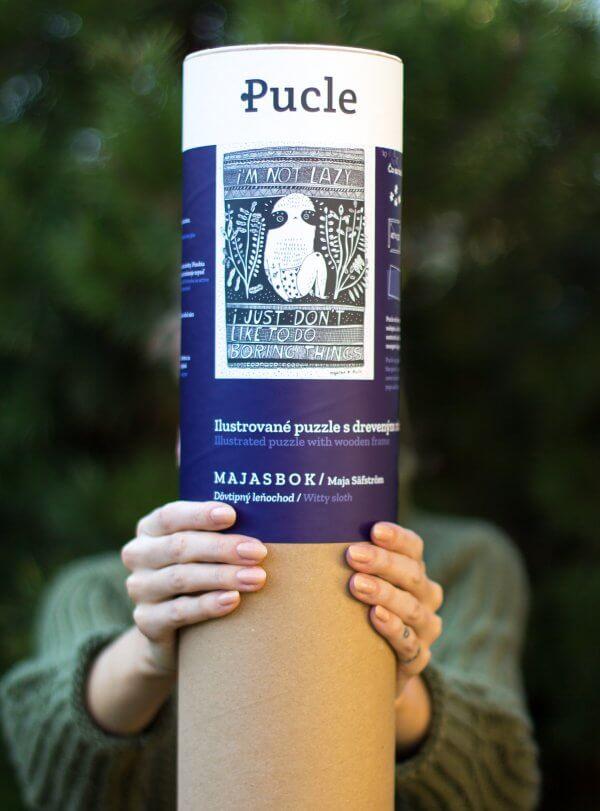 Maja Safstrom puzzle Pucle s dreveným bukovým rámom