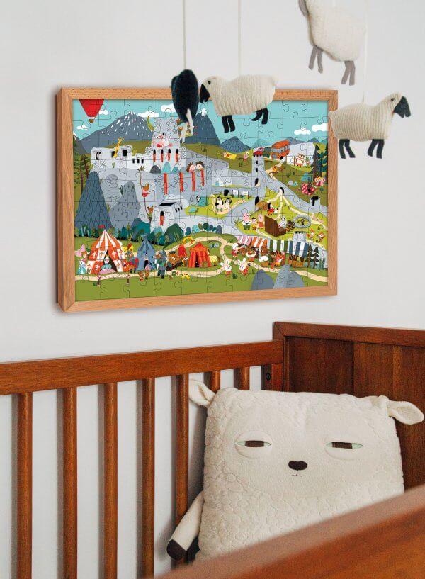 Mária Nerádová puzzle na stene Pucle puzzle pre deti