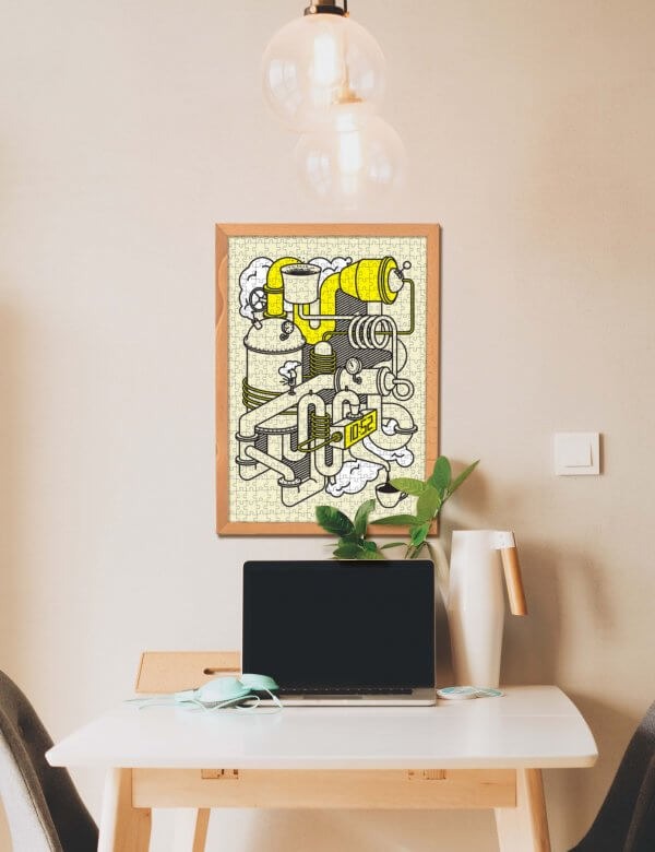 Pucle od Ruda Letka na stene puzzle