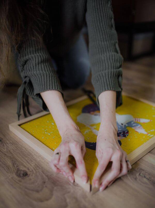 Ako rámovať puzzle bez lepenia Pucle